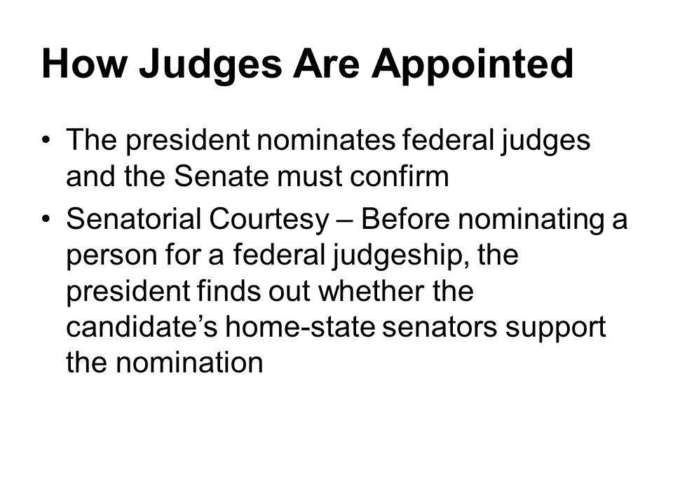How Judges Are Appointed