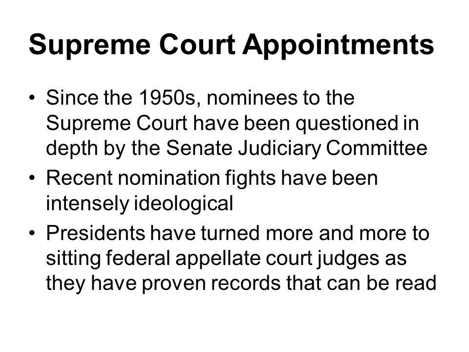 Supreme Court Appointments