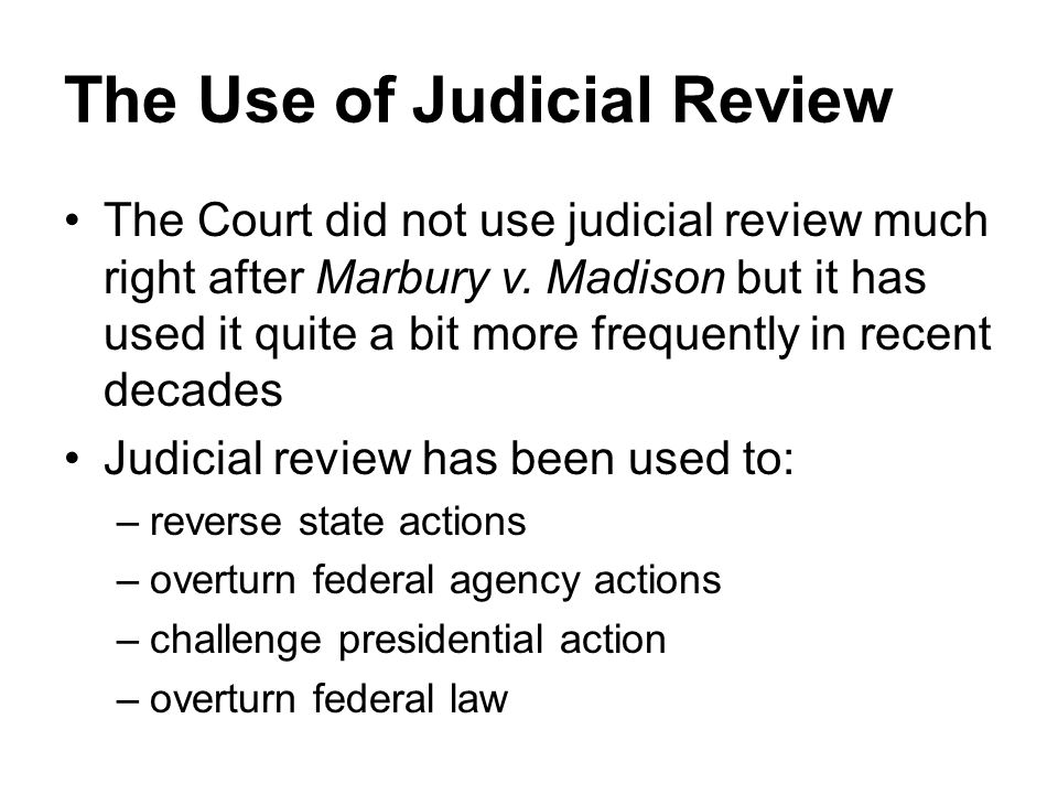 The Use of Judicial Review