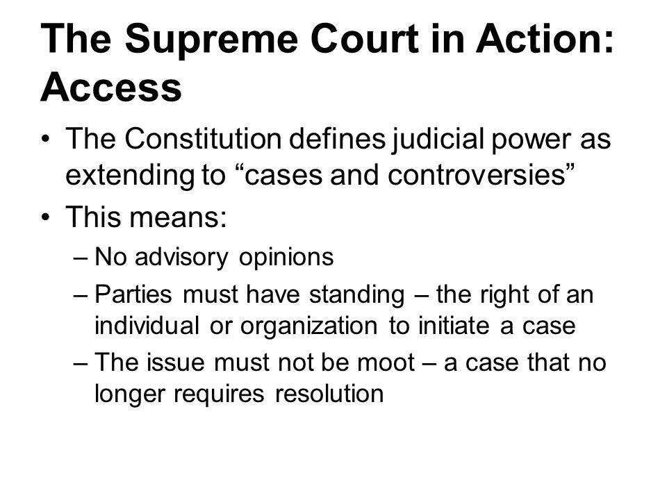 The Supreme Court in Action: Access