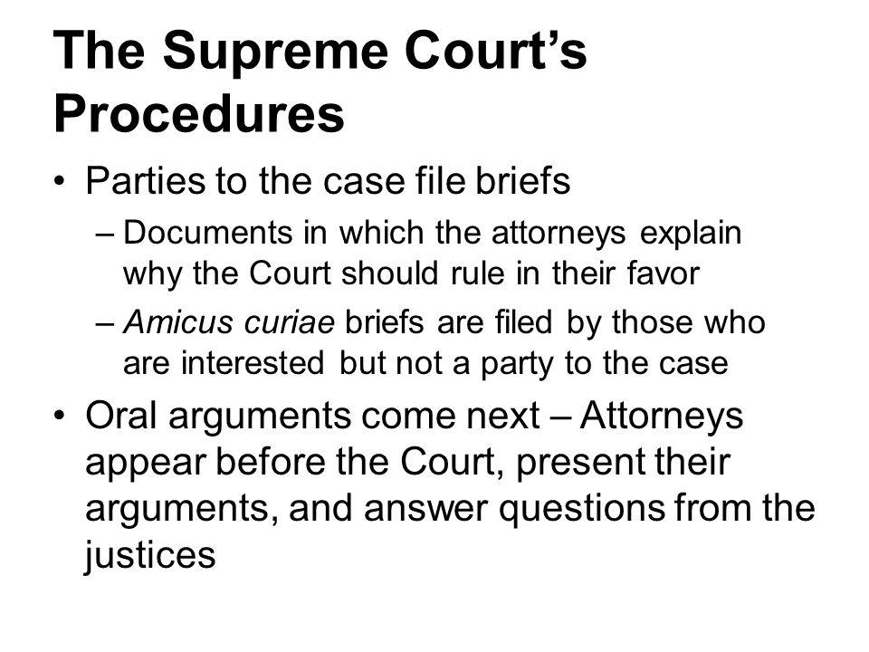 The Supreme Court's Procedures