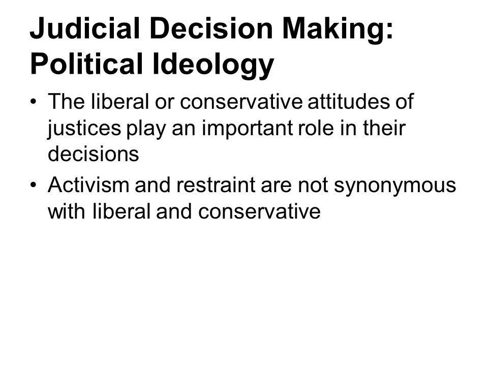Judicial Decision Making: Political Ideology