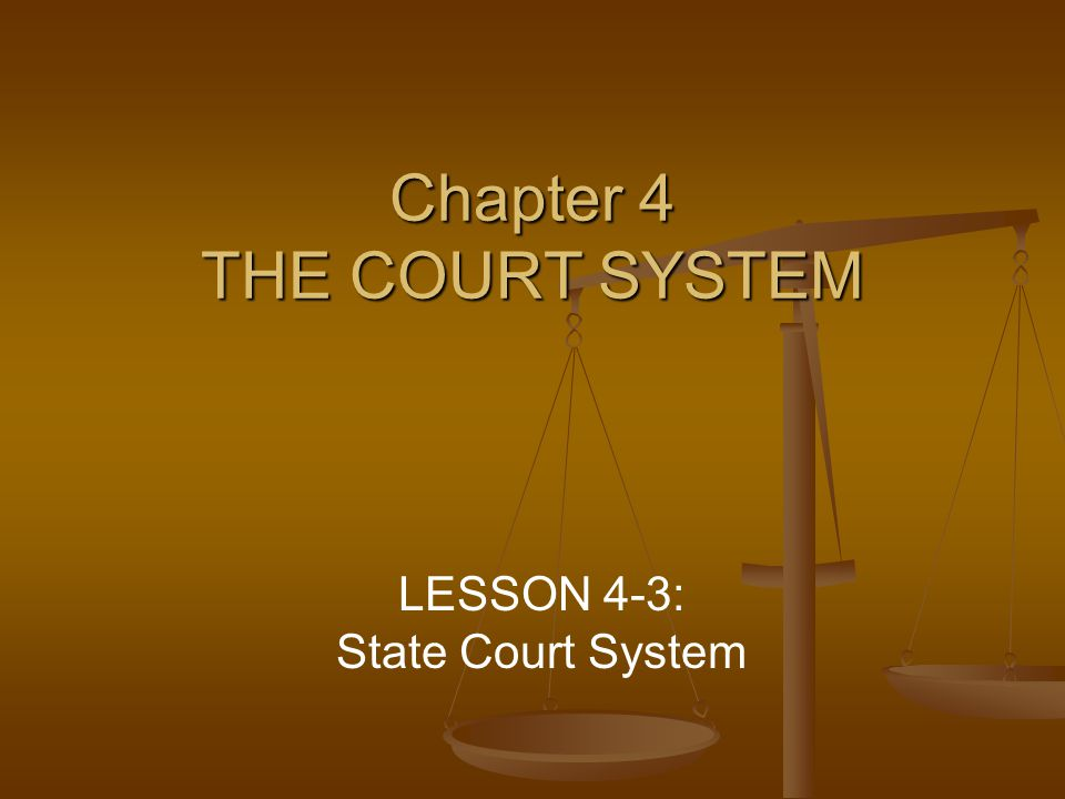 Chapter 4 THE COURT SYSTEM