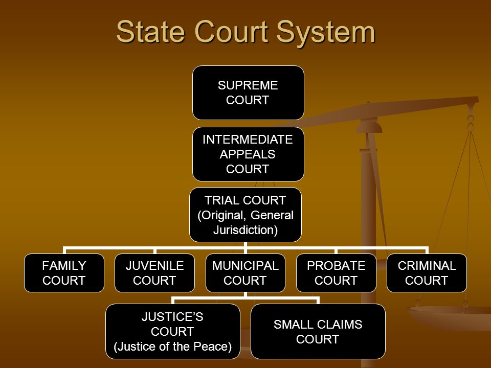 State Court System SUPREME COURT INTERMEDIATE APPEALS COURT