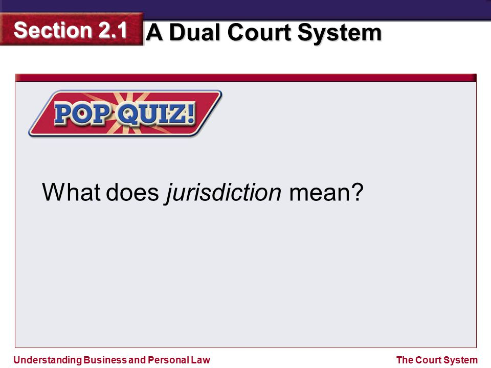 What does jurisdiction mean