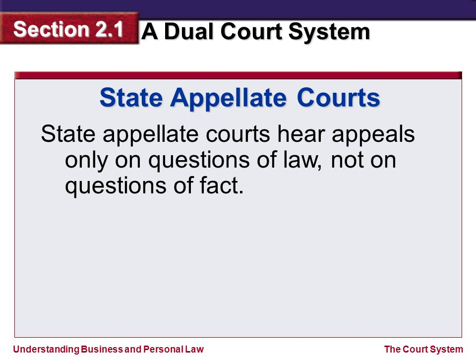 State Appellate Courts