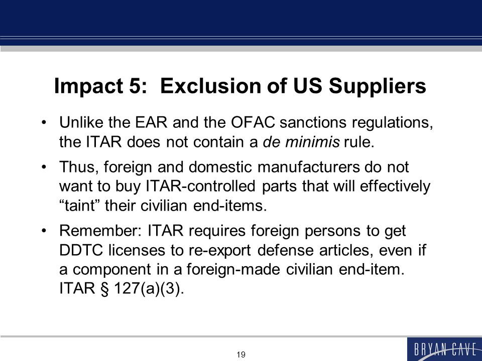 Impact 5: Exclusion of US Suppliers