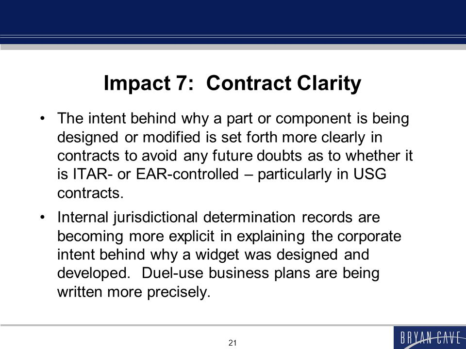 Impact 7: Contract Clarity