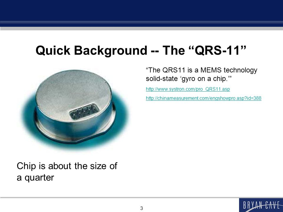 Quick Background -- The QRS-11