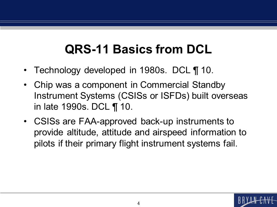 QRS-11 Basics from DCL Technology developed in 1980s. DCL ¶ 10.