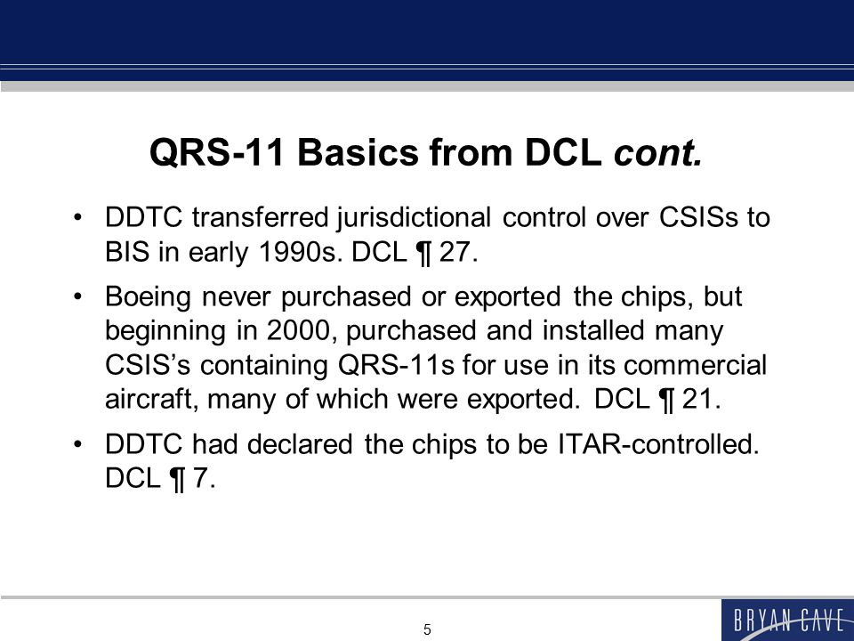 QRS-11 Basics from DCL cont.