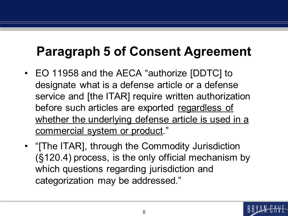 Paragraph 5 of Consent Agreement