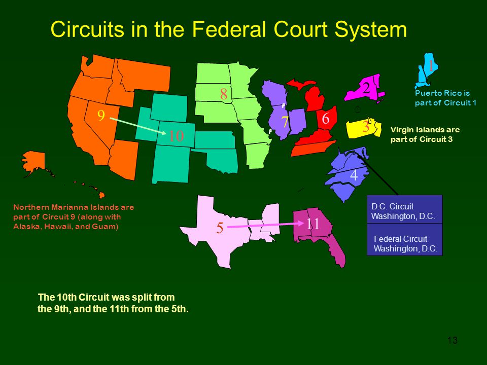 Circuits in the Federal Court System