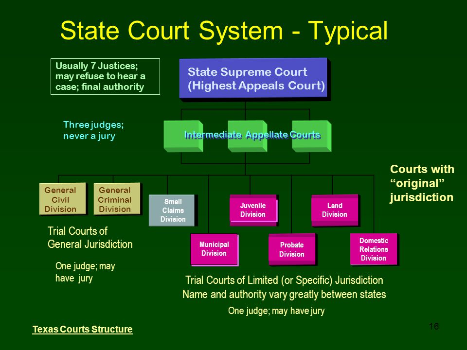 State Court System - Typical