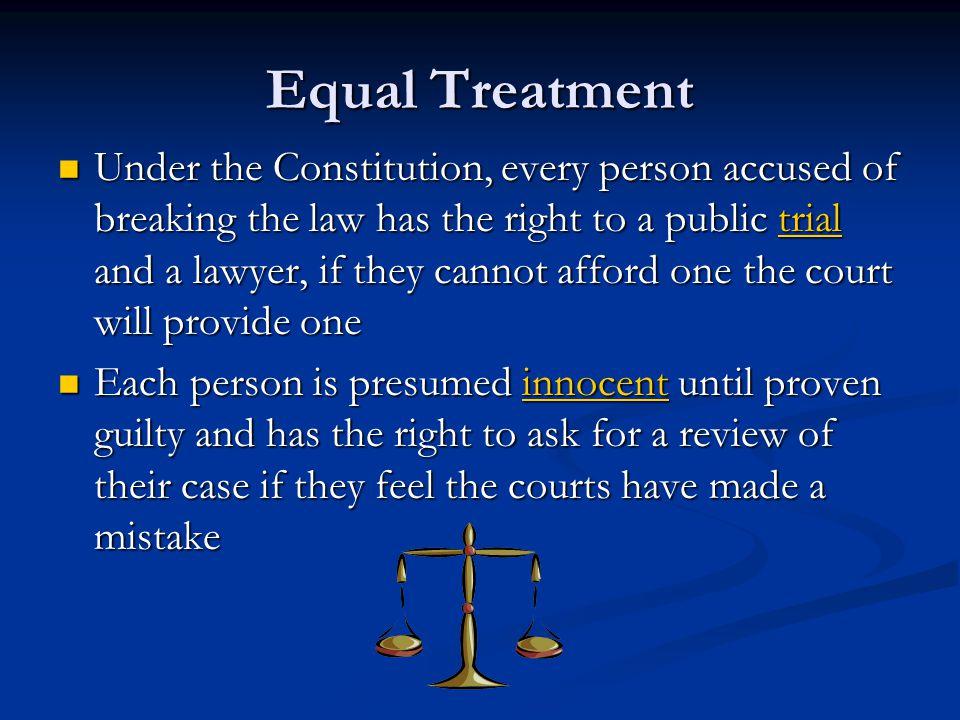 Equal Treatment