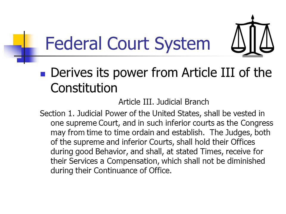 Article III. Judicial Branch