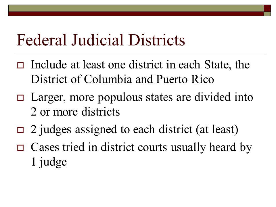 Federal Judicial Districts