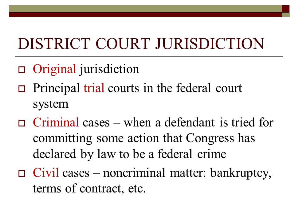 DISTRICT COURT JURISDICTION