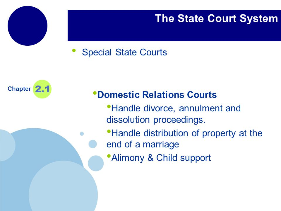 The State Court System Special State Courts 2.1