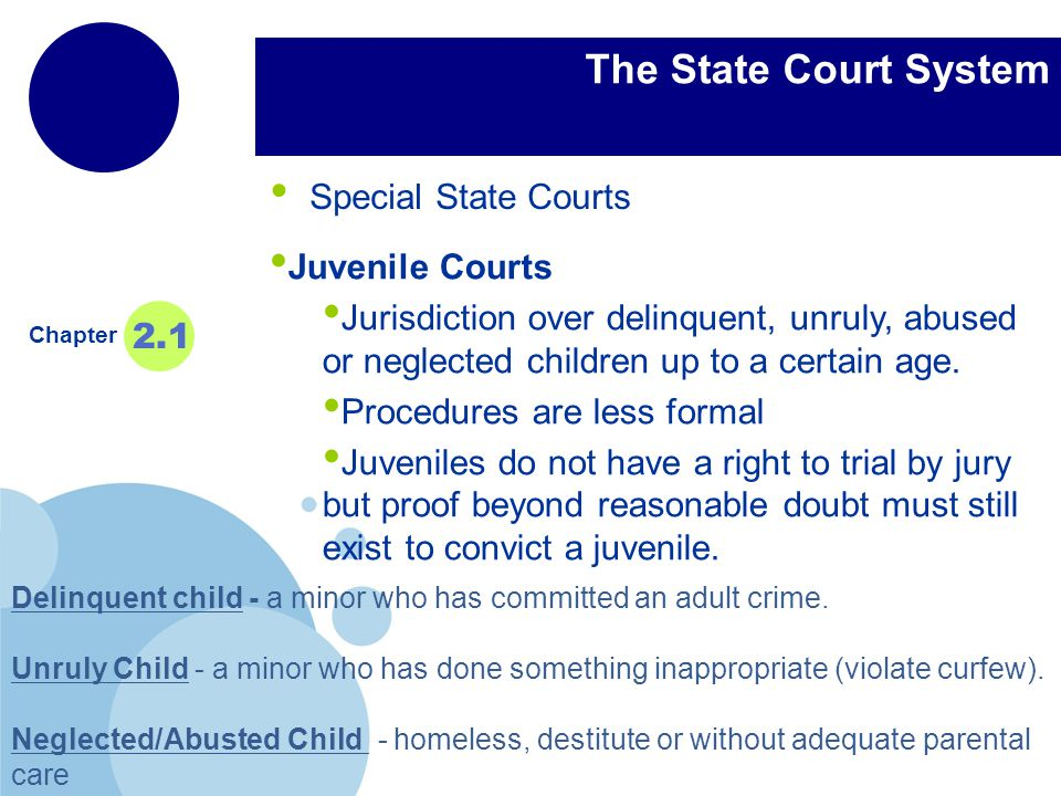 juvenile jurisdiction vs adult jurisdiction Kids in adult court honorable nancy l gettinger  certain youth from juvenile court jurisdiction to be tried as adults in criminal court this is pretty much what we  committed by an adult and the child has previously been convicted of a felony or a non-traffic misdemeanor.