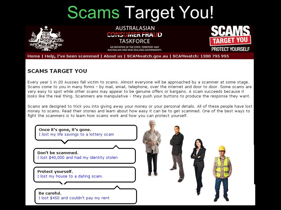 Scams Target You!