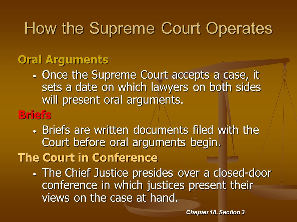 How the Supreme Court Operates