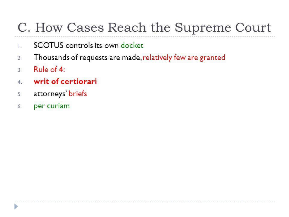 C. How Cases Reach the Supreme Court