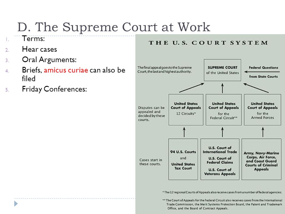 D. The Supreme Court at Work