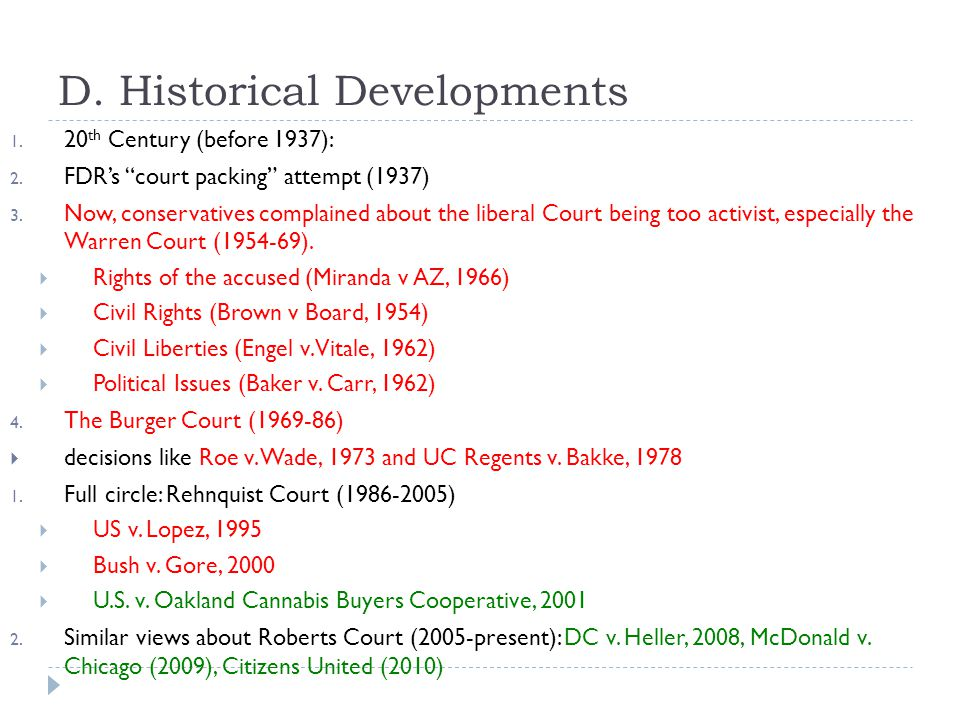 D. Historical Developments
