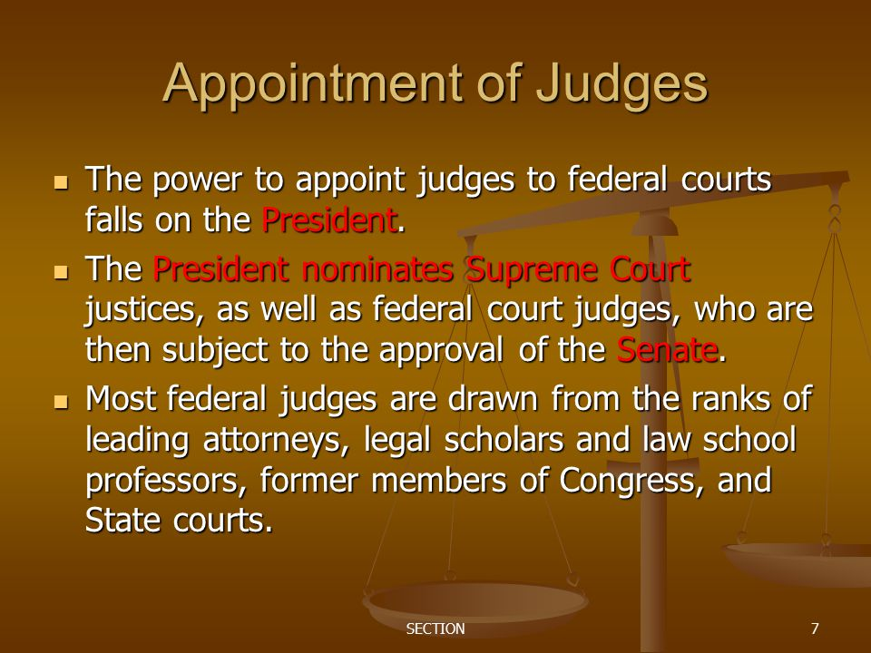 Judicial appointment history for United States federal courts
