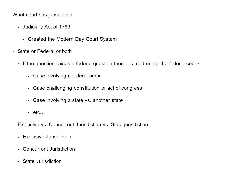 What court has jurisdiction