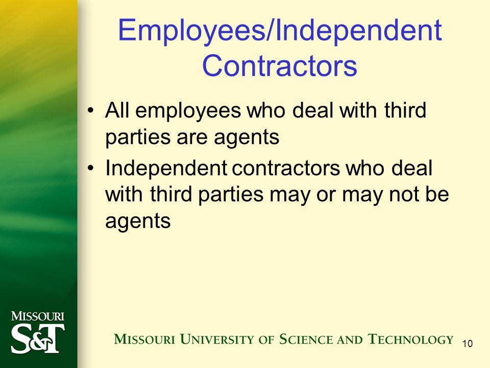 Employees/Independent Contractors