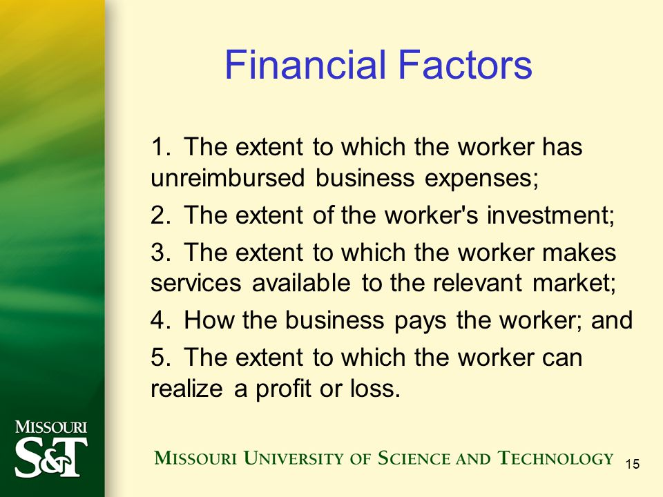 Financial Factors