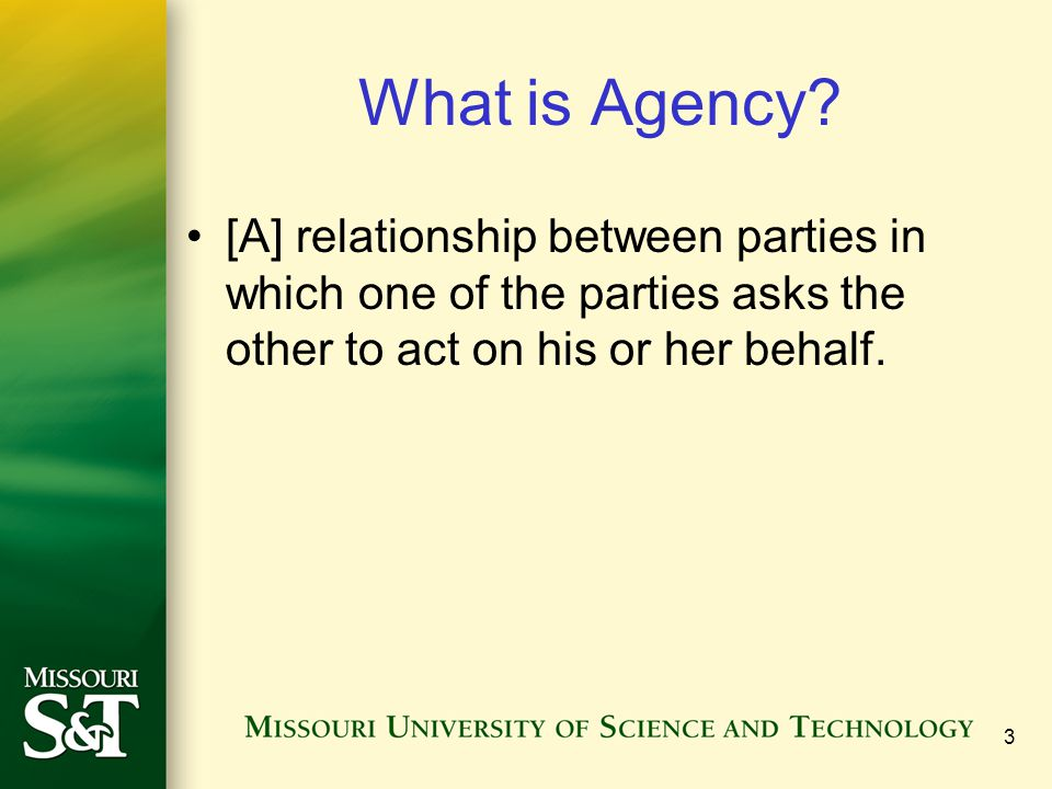 What is Agency.