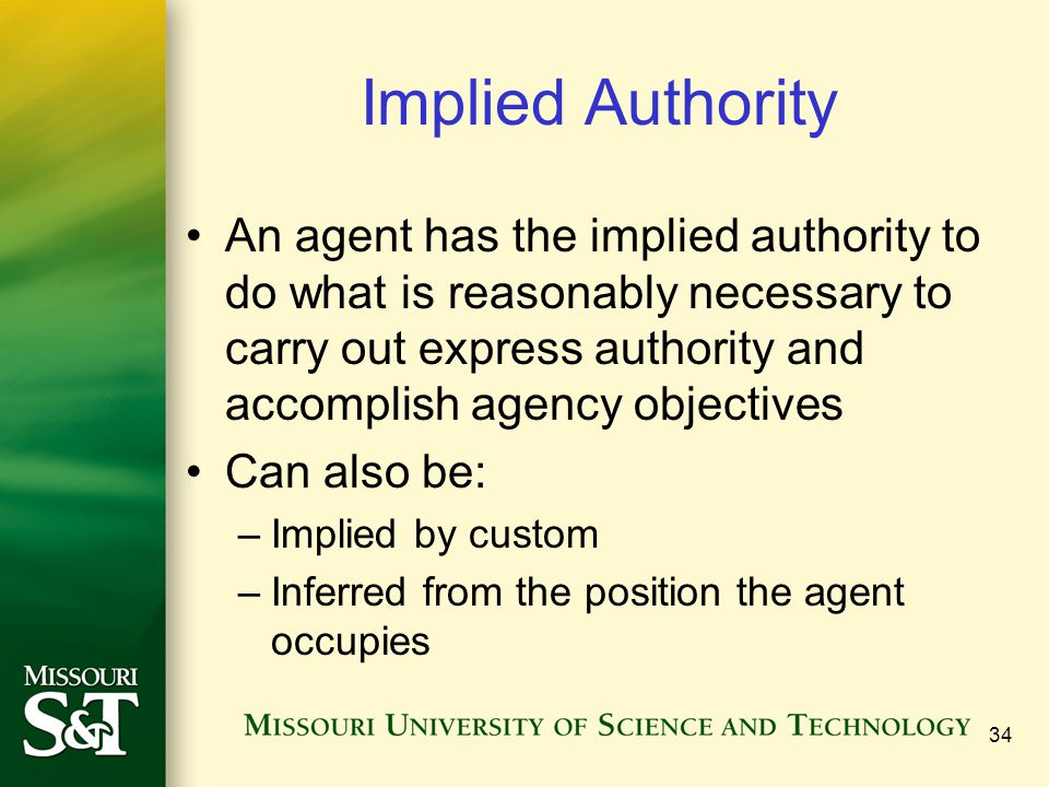 Implied Authority