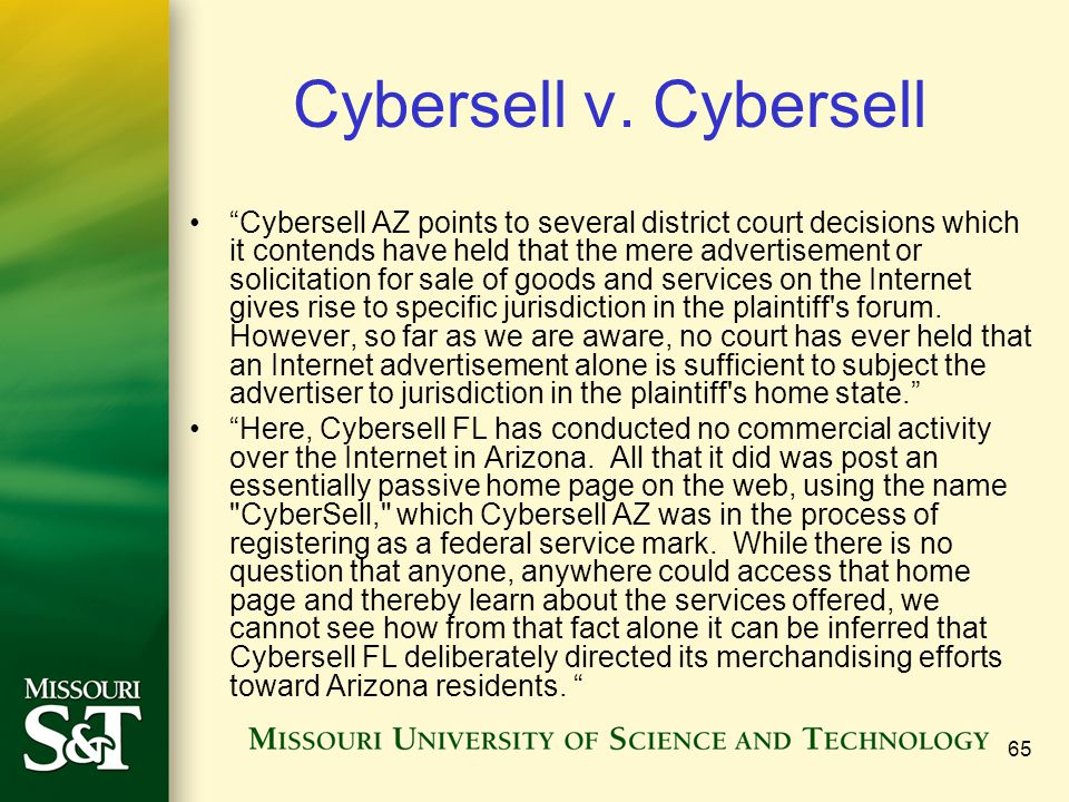 Cybersell v. Cybersell