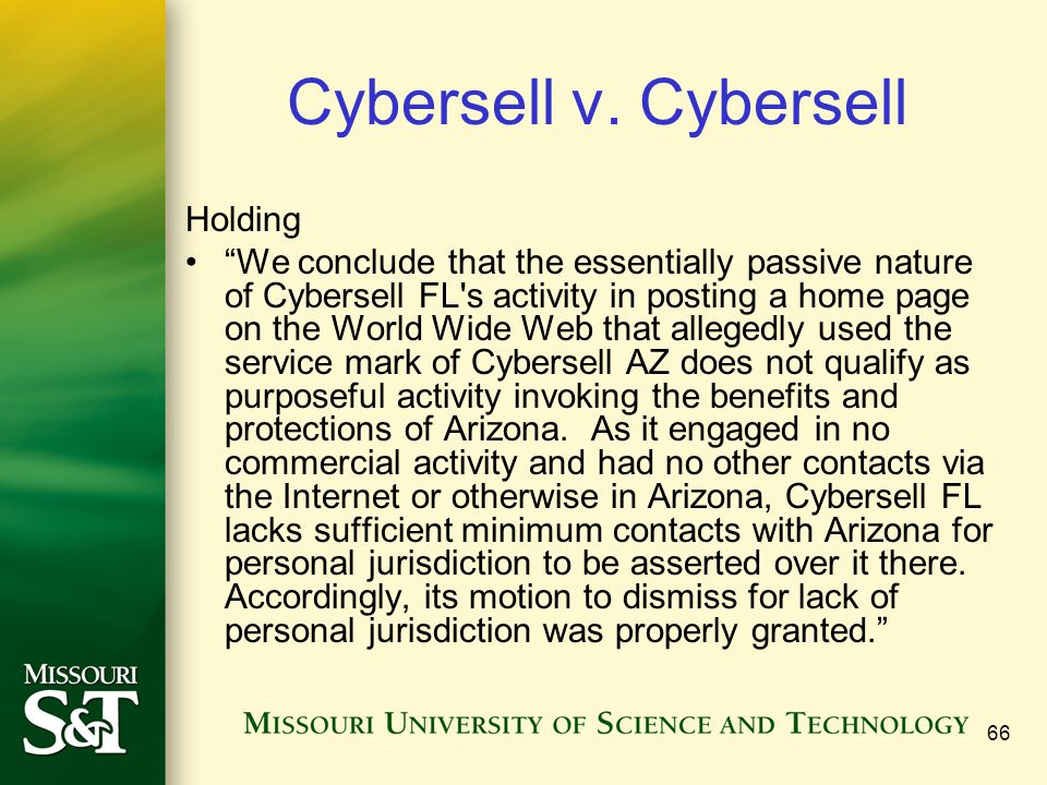 Cybersell v. Cybersell Holding