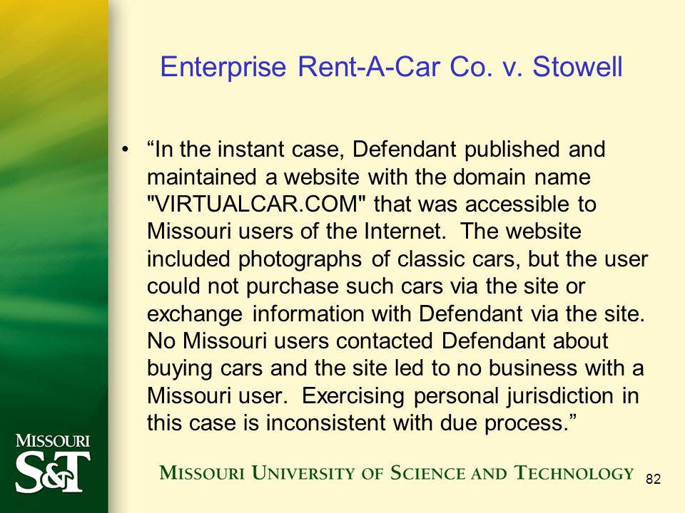 Enterprise Rent-A-Car Co. v. Stowell