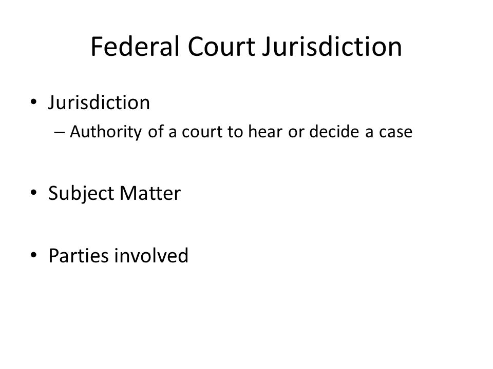 Federal Court Jurisdiction