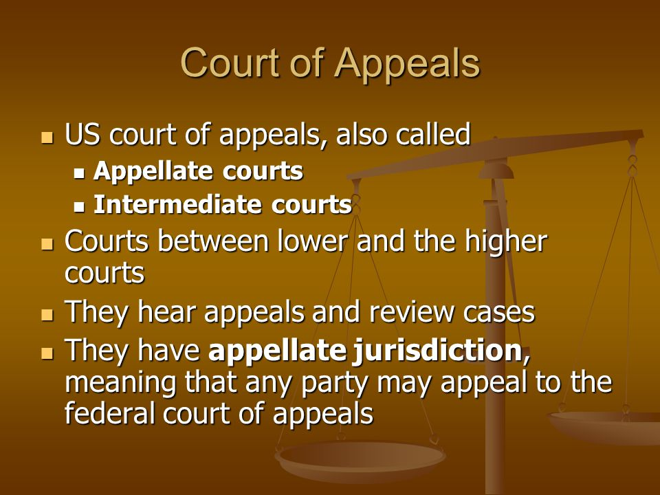Court of Appeals US court of appeals, also called