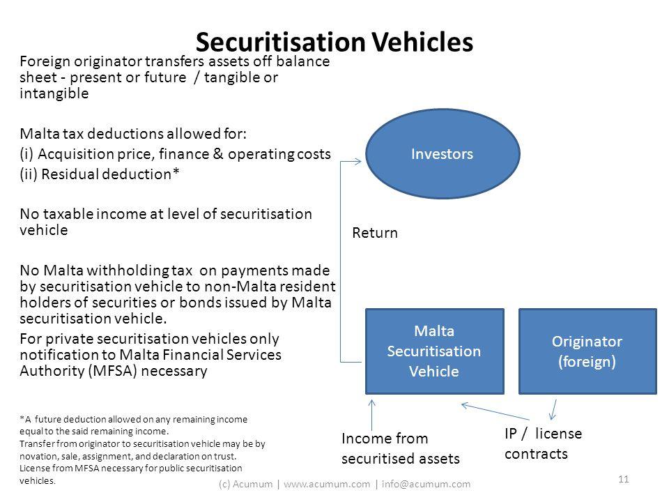 Securitisation Vehicles