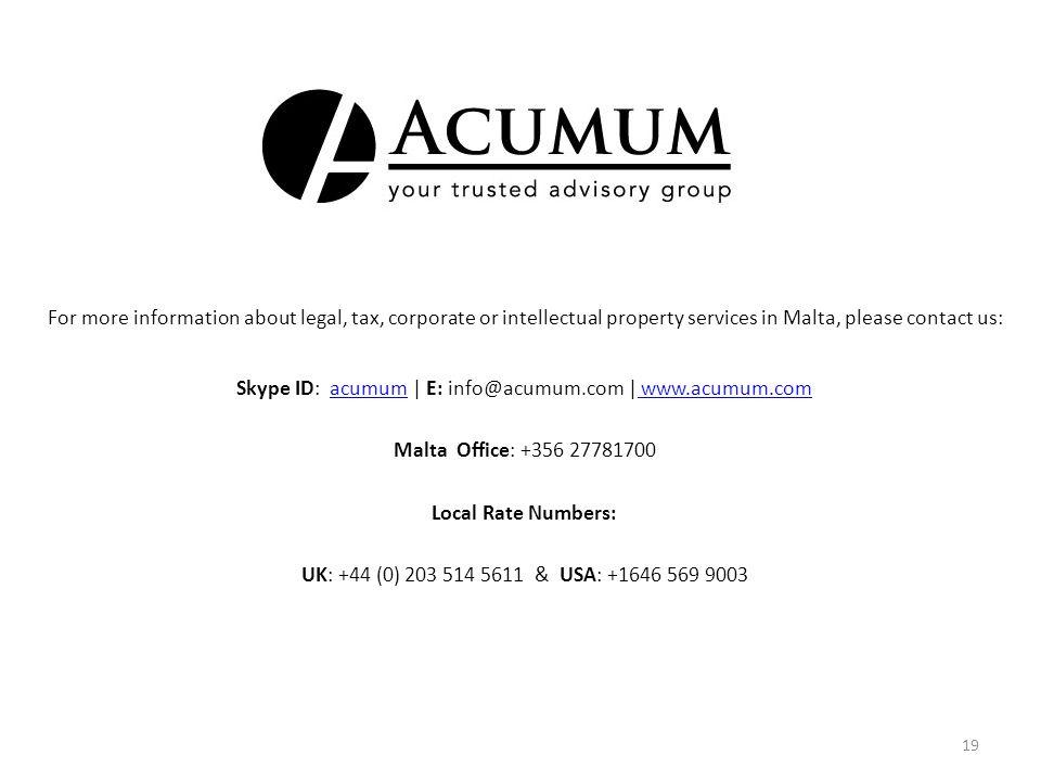 Skype ID: acumum | E: info@acumum.com | www.acumum.com