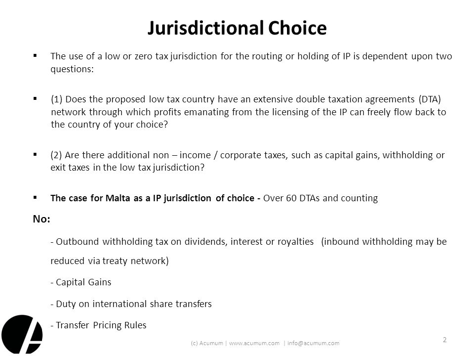 Jurisdictional Choice