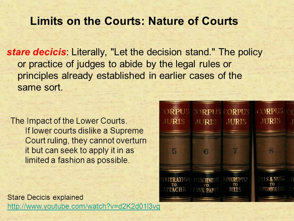Limits on the Courts: Nature of Courts