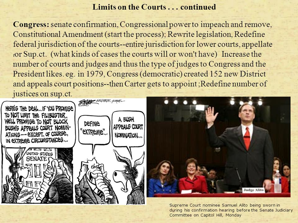 Limits on the Courts . . . continued