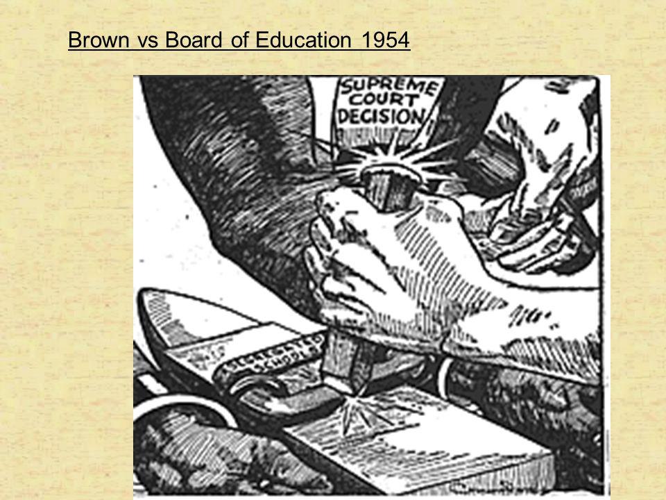 Brown vs Board of Education 1954