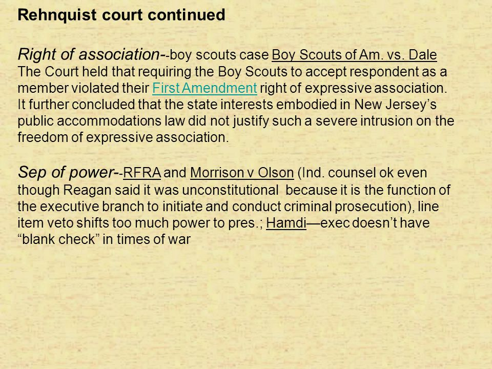 Rehnquist court continued