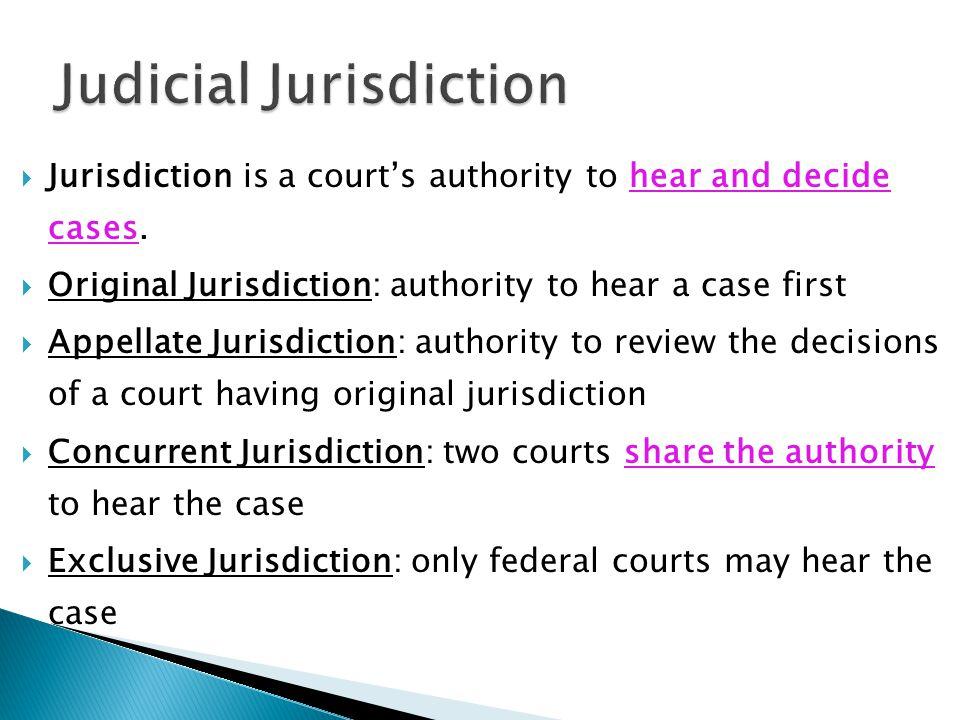 Judicial Jurisdiction