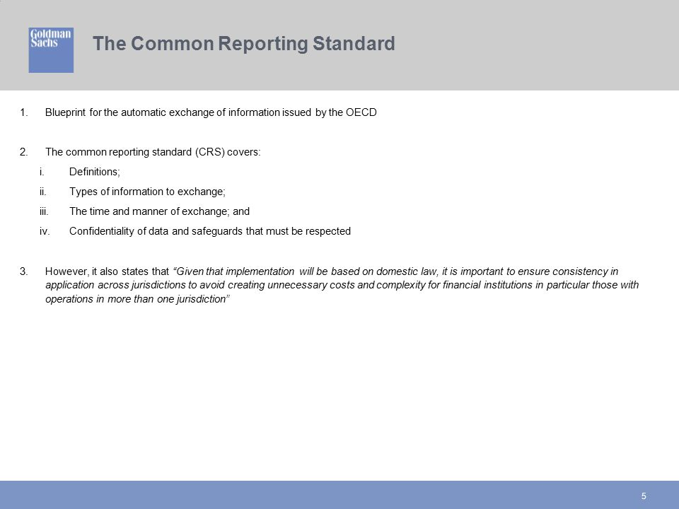 The Common Reporting Standard