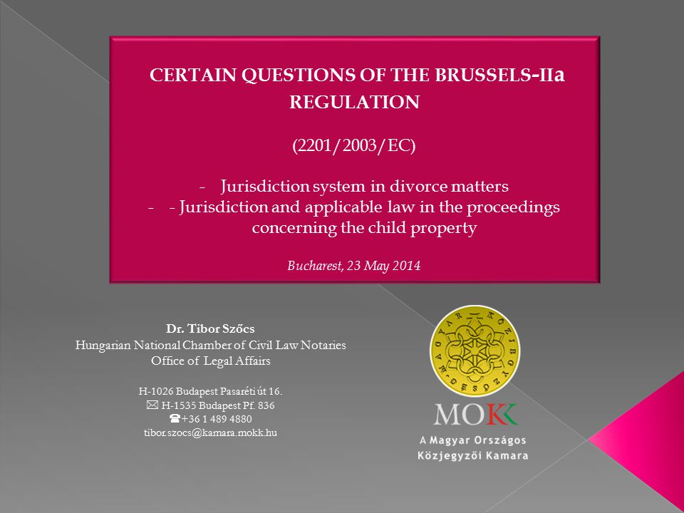 certain questions of the brussels-iia regulation